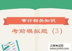 【云南考试网】2017年《审计相关知识》考前模拟试题(3)
