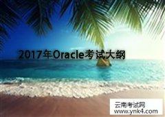 2017年Oracle考试大纲【云南考试网】