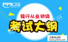 云南考试中心:2018年银行从业资格《银行管理》初级考试大纲
