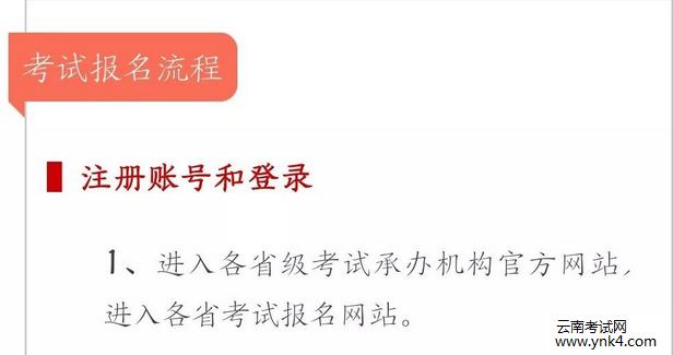 云南考试中心:2018年全国计算机等级考试网上报名流程