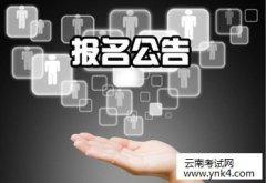 云南人事考试网:云南2018年审计专业技术资格考试报名通知