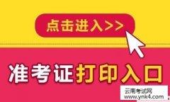 云南考试网:2018年下半年中小学教师资格考试准考证打印