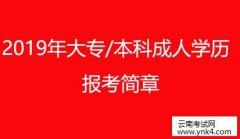 云南成考网:2019年大专-本科成人学历提升报考简章