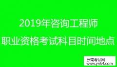 云南人事考试网:2019年咨询工程师(投资)职业资格考试考试科目