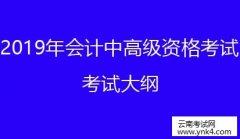 云南省考试中心:2019云南会计专业技术中高级资格考试考试大纲