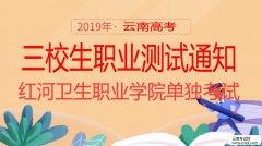 高考:2019年红河卫生职业学院单独考试三校生文化素质测试通知