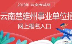事业单位招聘:2019年云南楚雄州事业单位招聘考试网上报名入口