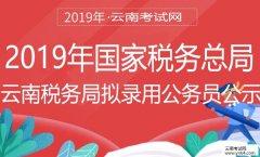 公务员:2019年国家税务总局云南省税务局拟录用公务员公示