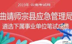遴选:2019年曲靖市师宗县应急管理局遴选下属事业单位笔试成绩