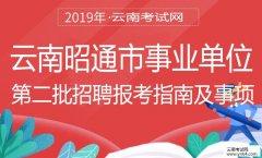 事业单位招聘;2019年昭通市事业单位第二批招聘报考指南及事项