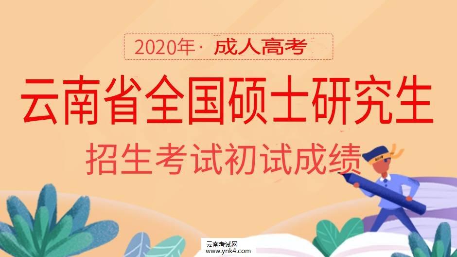 云南省招考频道:2020年云南省全国硕士研究生招生考试初试成绩