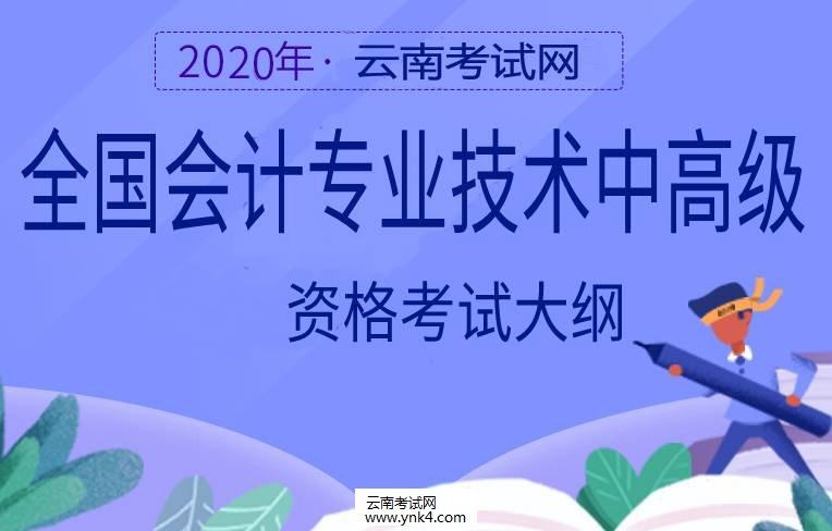 云南招考频道:2020年全国会计专业技术中高级资格考试大纲