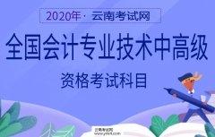 云南招考频道:2020全国会计专业技术中高级资格考试科目