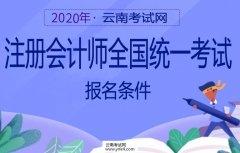 云南招考频道:2020年注册会计师全国统一考试报名条件