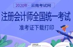 云南招考频道:2020年注册会计师全国统一考试准考证下载打印